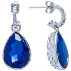Beach Chic Double Sided Blue Teardrop Earrings