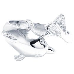 Ocean Treasures Silver Tone Dolphin Fashion Ring