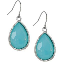 Lily Maris Aqua Blue Glass Teardrop Earrings