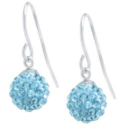 Piper & Taylor Blue Crystal Elements Ball Drop Earrings