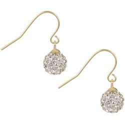 Piper & Taylor Gold Tone Crystal Elements Ball Earrings