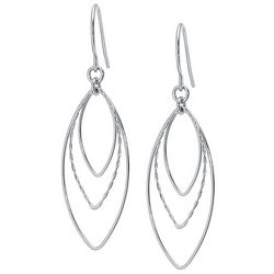 Piper & Taylor Silver Tone Triple Marquis Earrings