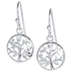 Piper & Taylor Silver Tone Tree Of Life Earrings