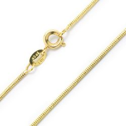 Lily Maris 20'' 24K Gold Plated Snake Chain Necklace