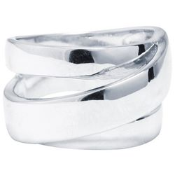Ocean Treasures Silver Tone Wrap Around Fashion Ring