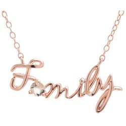 Signature Rose Gold Tone Family Pendant Necklace