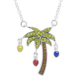 Florida Friends Holiday Crystal Elements Palm Tree Necklace