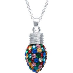 Florida Friends Multi Crystal Elements Holiday Bulb Necklace