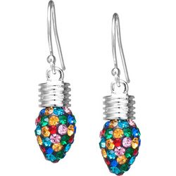 Florida Friends Multi Crystal Elements Holiday Bulb Earrings