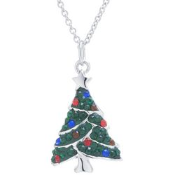 Florida Friends Crystal Elements Christmas Tree Necklace