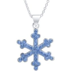 Florida Friends Blue Crystal Elements Snowflake Necklace