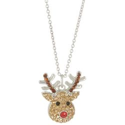 Florida Friends Crystal Elements Holiday Reindeer Necklace