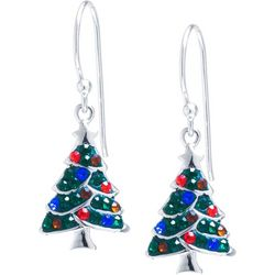 Florida Friends Crystal Elements Christmas Tree Earrings