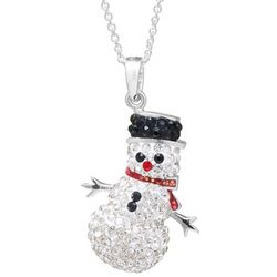 Florida Friends Crystal Elements Snowman Pendant Necklace