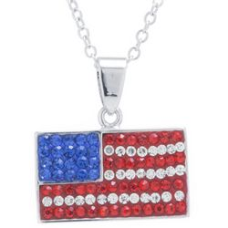 Florida Friends Crystal Elements American Flag Necklace