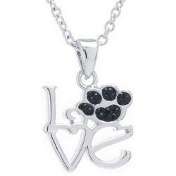 Florida Friends Love Paw Print Pendant Necklace