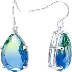 Lily Maris Blue Multi Glass Facet Teadrop Earrings