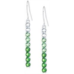 Lily Maris Green Ombre Crystal Linear Drop Earring