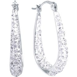 Lily Maris Clear Crystal In/Out Hoop Earrings