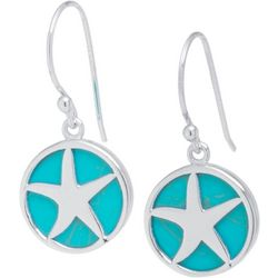 Beach Chic Turquoise Blue & Starfish Earrings