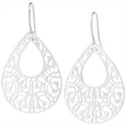 Lily Maris Silver Plated Filigree Teardrop Earring