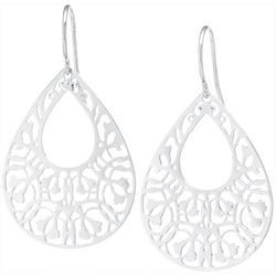 Silver Plated Filigree Teardrop Earring