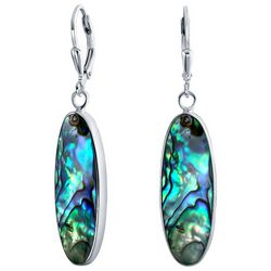 BLING Abalone Shell Oval Drop Earrings