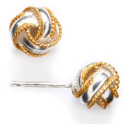 Pure 100 Woven Metal Stud Earrings