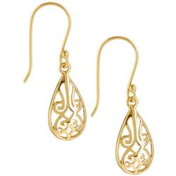 Pure 100 Filigree Teardrop Earrings