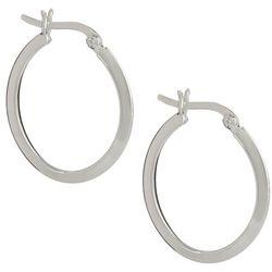 Pure 100 25mm Silver Tone Hoop Earrings