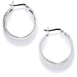 Pure 100 Textured Click-It Hoop Earrings