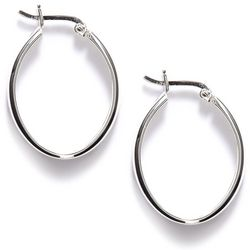 Pure 100 Thin Oval Hoop Earrings