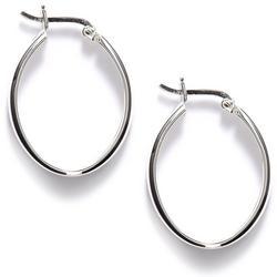 Thin Oval Hoop Earrings