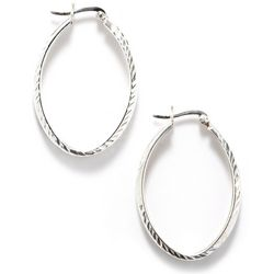 Pure 100 Oval Hoop Earrings