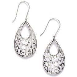 Pure 100 Teardrop Swirl Dangle Earrings
