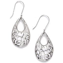 Teardrop Swirl Dangle Earrings