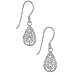 Signature Sterling Silver Filigree Teardrop Earrings