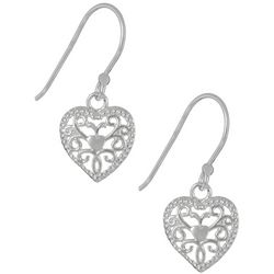 Signature Sterling Silver Filigree Heart Earrings