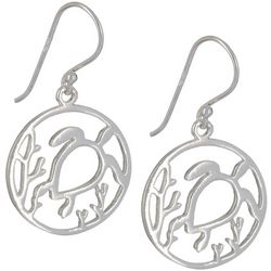 Signature Sterling Silver Sea Turtle Cutout Earrings