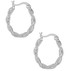 Signature Sterling Silver Braided Hoop Earrings