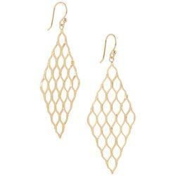 Pure 100 Gold Tone Kite  Earrings
