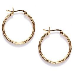 Piper & Taylor Textured Simple Hoop Earrings