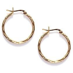 Textured Simple Hoop Earrings