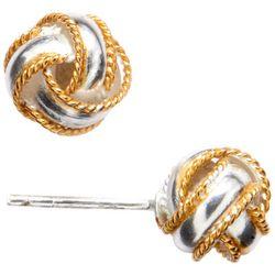 Piper & Taylor Woven Metal Stud Earrings
