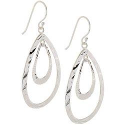 Piper & Taylor Double Open Teardrop Earrings