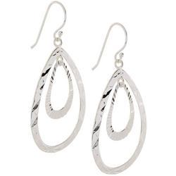 Double Open Teardrop Earrings