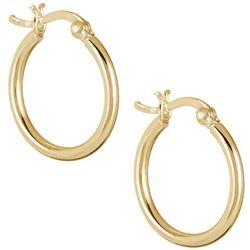 Pure 100 20mm Tubular Hoop Earrings