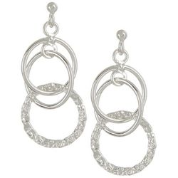 Pure 100 Multi-Ring Post Top Earrings