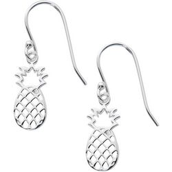 Pure 100 Silver Tone Pineapple Earrings