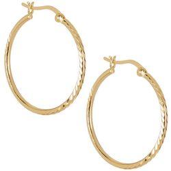 Pure 100 Gold Tone 30MM Hoop Earrings